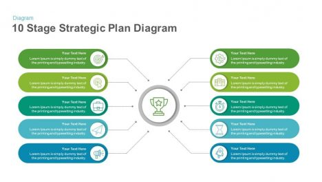 10 Stage Strategic Plan Diagram Keynote and Powerpoint Template