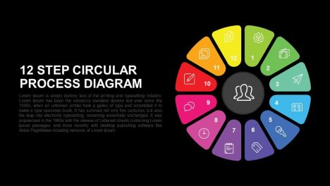 12 Step Circular Process Diagram Powerpoint and Keynote template