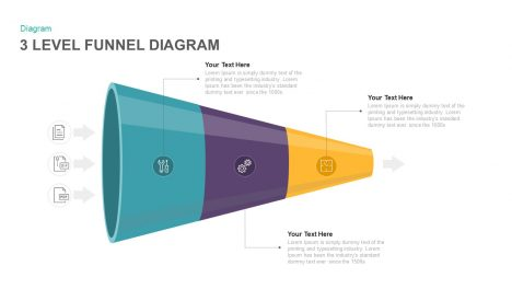 3 Level Funnel Diagram PowerPoint and Keynote template