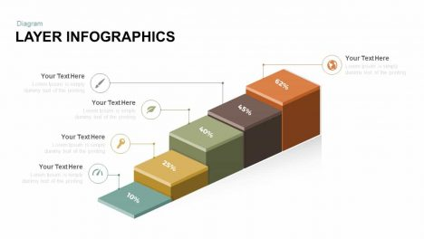 3D Layer Diagram Free PowerPoint Template And Keynote
