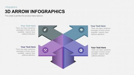 3d Arrow Infographics Powerpoint and Keynote template