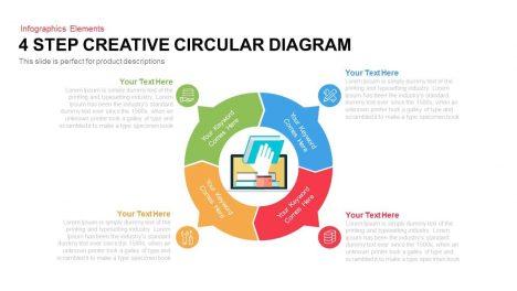 4 Step Creative Circular Diagram