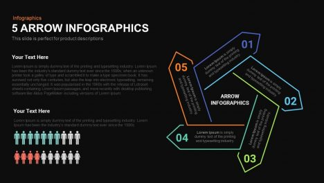 5 Arrow Infographics Powerpoint and Keynote template