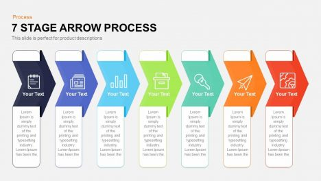 7 Stage Process Arrow PowerPoint Template and Keynote Template