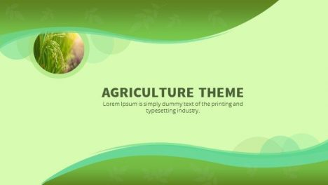 Agriculture Powerpoint Keynote Background and Theme
