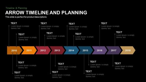 Arrow Timeline and Planning