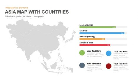 Asia Map PowerPoint Template and Keynote with Countries