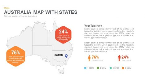 Australia Map With States Powerpoint and Keynote template