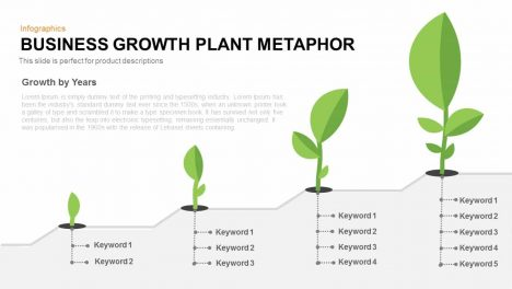 Business Growth Plant Metaphor PowerPoint Template and Keynote Slide