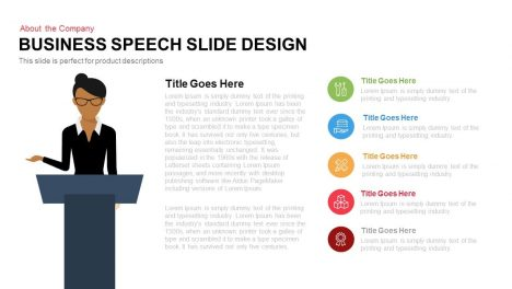 Business Speech Slide Design