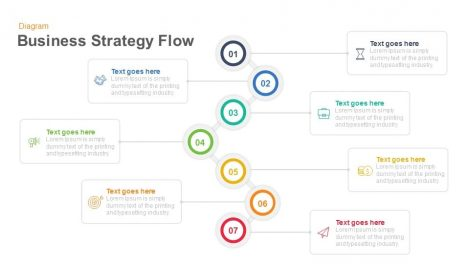 Business Strategy Flow Diagram Keynote and Powerpoint template