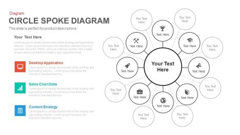 circle spoke diagram PowerPoint template and keynote
