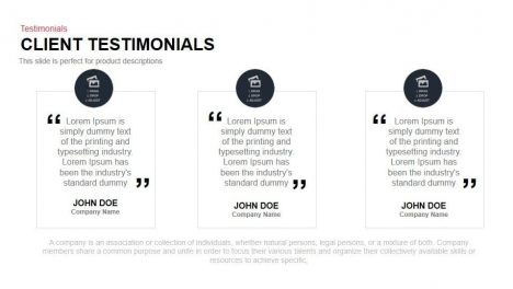 Client Testimonials Powerpoint and Keynote Template