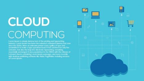 Cloud Computing Metaphor Powerpoint and Keynote Template