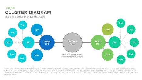 Cluster Diagram Powerpoint and Keynote template
