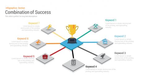 Combination of Success PowerPoint Template and Keynote Slides