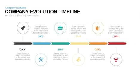 Company Evolution Timeline Powerpoint Keynote