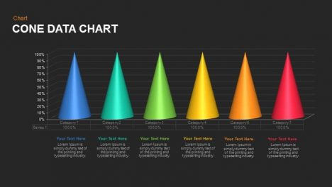 Cone chart data PowerPoint template