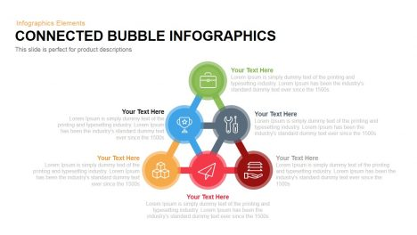 Connected Bubbles Template for PowerPoint and Keynote