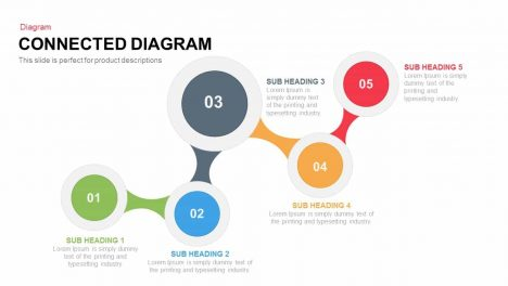 Connected Diagram Powerpoint and Keynote template