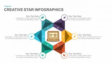 Creative Star Infographics Powerpoint and Keynote template
