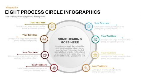Eight Process Circle Infographics Powerpoint and Keynote template