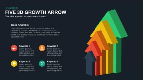 Five 3d Growth Arrow