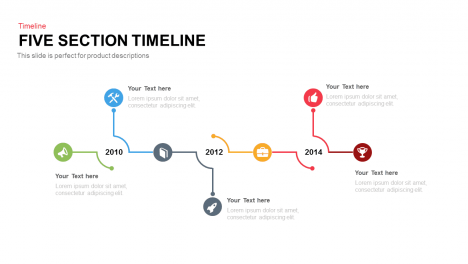 5 Section Timeline PowerPoint Template