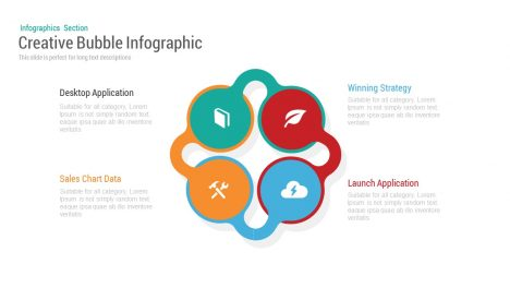 Four Bubble Infographic Powerpoint and Keynote template
