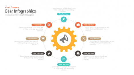 Free Infographics Gear PowerPoint templates and Keynote template