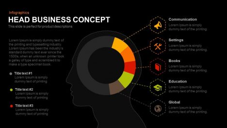 Head Business Concept Powerpoint and Keynote template
