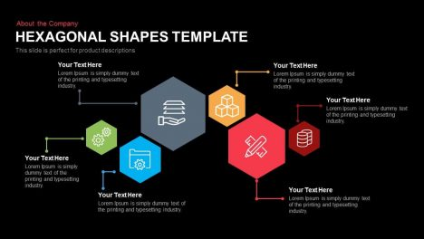 Hexagon Shape Template for PowerPoint and Keynote Slide