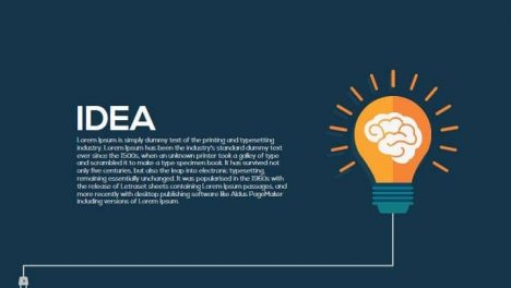 Idea Metaphor Powerpoint and Keynote Template