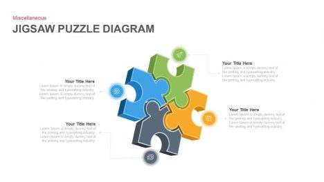 Jigsaw Puzzle Diagram Powerpoint and Keynote template