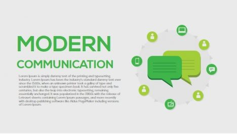 Modern Communication Metaphor Powerpoint and Keynote Template