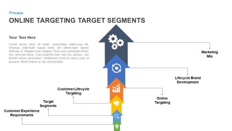 Online targeting target segments powerpoint template and keynote slide
