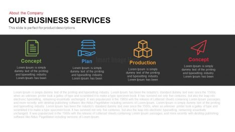 Our Business Services Powerpoint and Keynote slide