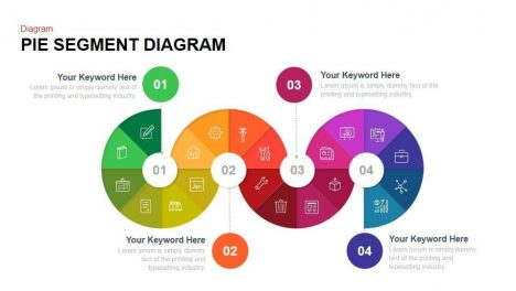 Pie Segment Diagram Powerpoint template and Keynote template