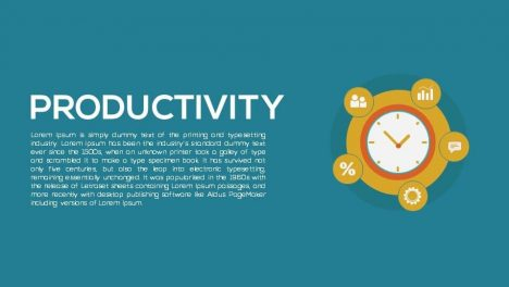 Productivity Metaphor Powerpoint and Keynote template