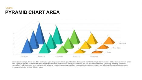 Pyramid Chart Area Powerpoint template