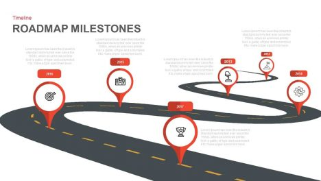 Roadmap Milestones Powerpoint and Keynote template