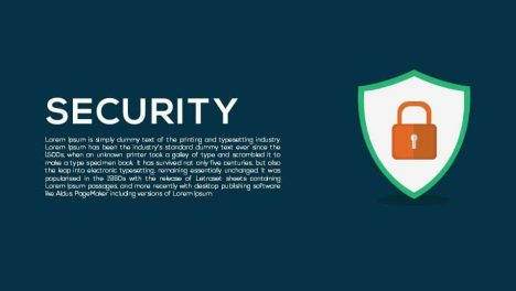 Security Metaphor Powerpoint and Keynote template