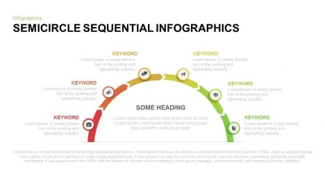 Semicircle sequential infographics PowerPoint template and keynote diagram