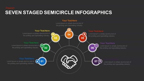 Seven Staged Semicircle Infographics Powerpoint template
