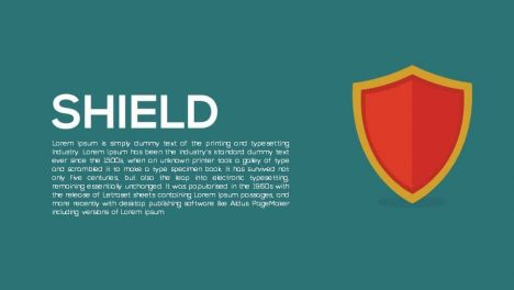 Shield Metaphor Powerpoint and Keynote template