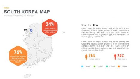 South Korea Map Powerpoint and Keynote template