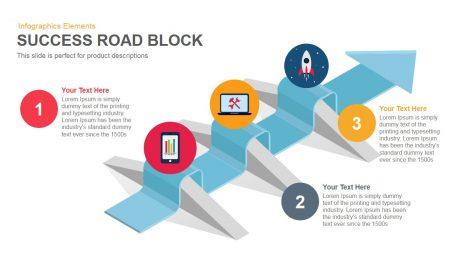 Success Road Block Powerpoint Keynote template