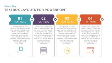 Textbox layouts for PowerPoint and Keynote Template Presentation