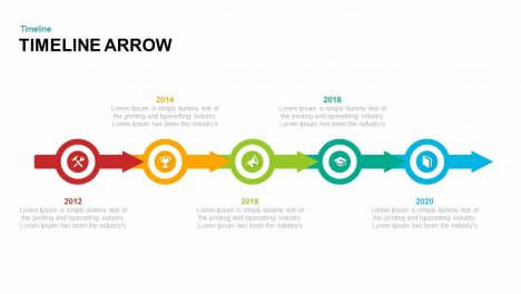 Timeline Arrow Powerpoint And Keynote Template | Slidebazaar