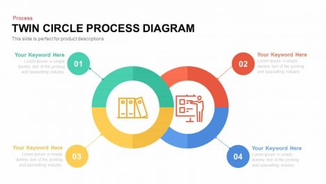 Twin Circle Process Diagram Powerpoint and Keynote template